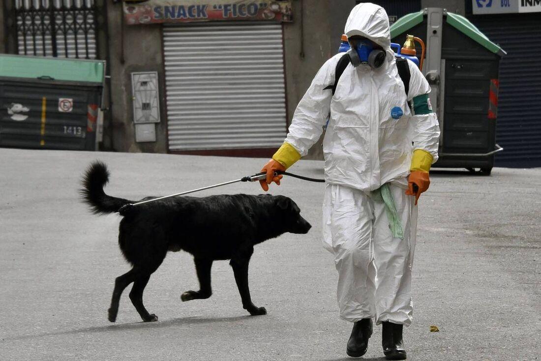 Trabalhador em La Paz, Bolívia