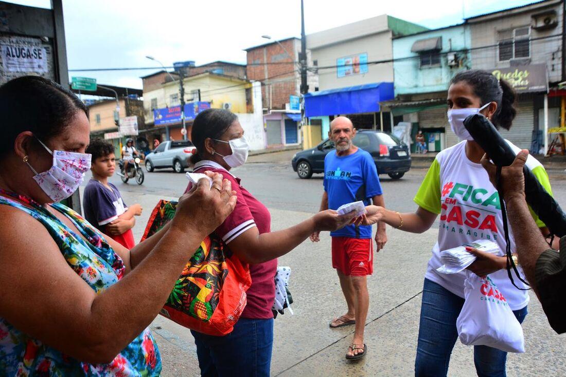 Prefeitura de Camaragibe distribui máscaras para a população