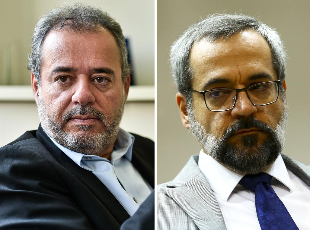 Danilo Cabral e Abraham Weintraub