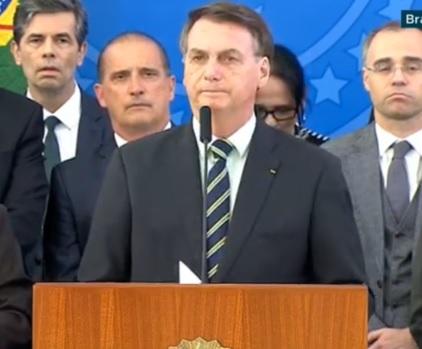 Bolsonaro em coletiva após saída de Ségio Moro do Ministério da Justiça