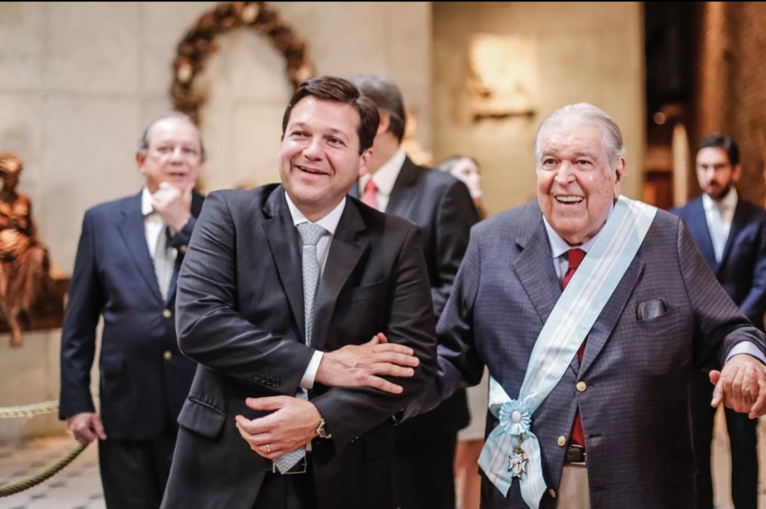 Prefeito do Recife, Geraldo Julio, e o empresário Ricardo Brennand