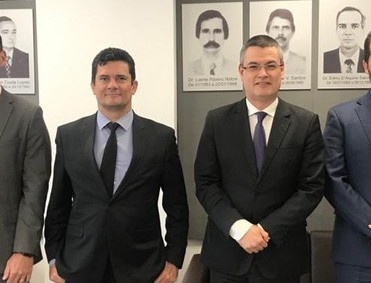 Sérgio Moro e Marcelo Valeixo, ex-diretor-geral da PF