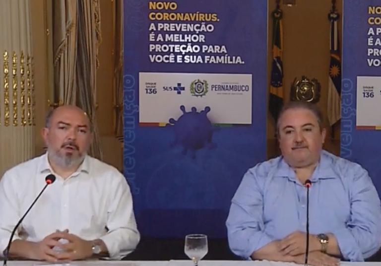 Secretários de Saúde Jailson Corrêa e André Longo