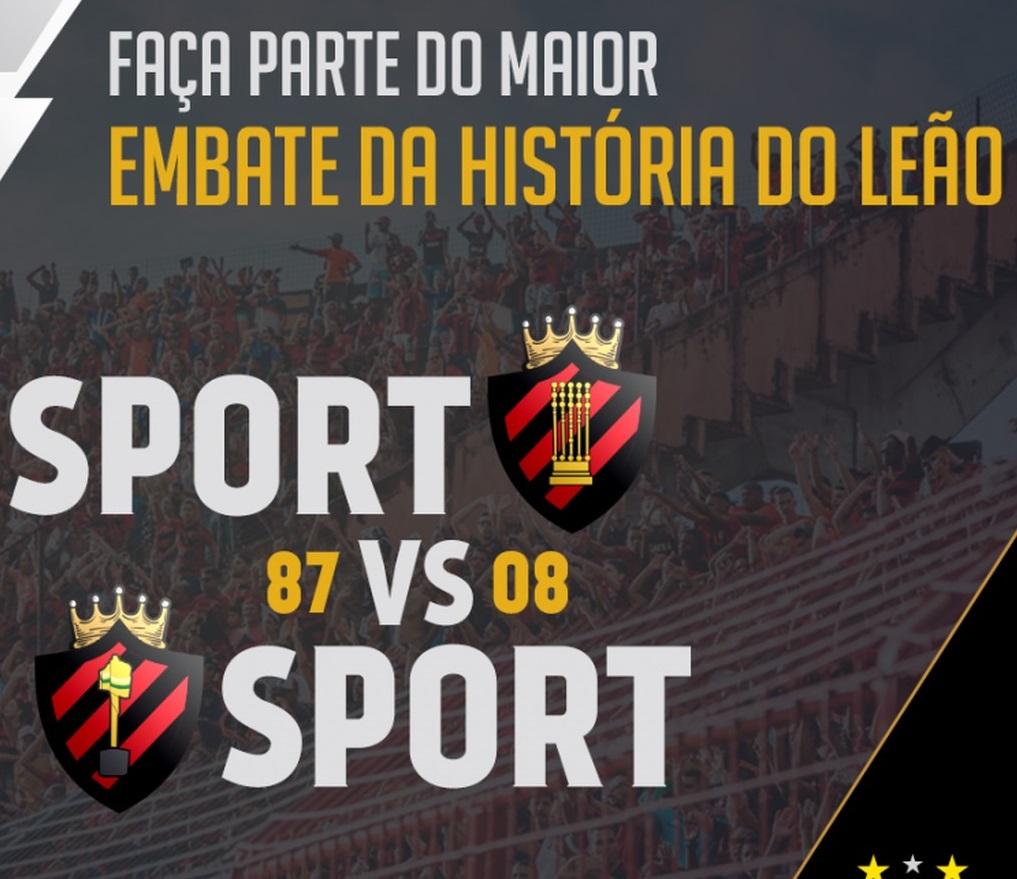 Sport 87 x Sport 2008 virtual acontece no dia 10 de maio
