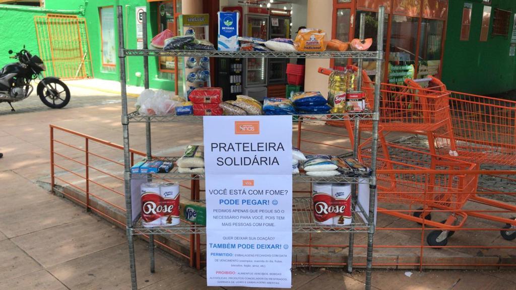Mercadinho Sinas desenvolve prateleira solidária