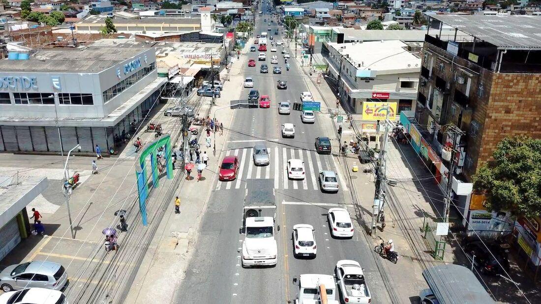 Limpeza das ruas em Camaragibe