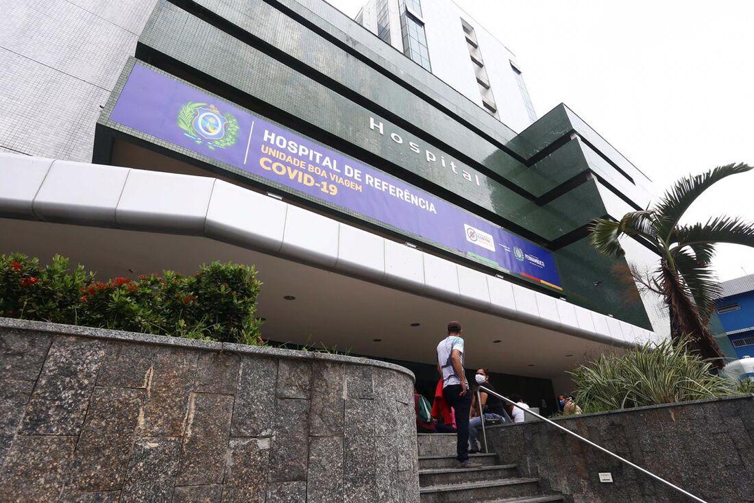 Hospital de Referência Covid-19, na Zona Sul do Recife