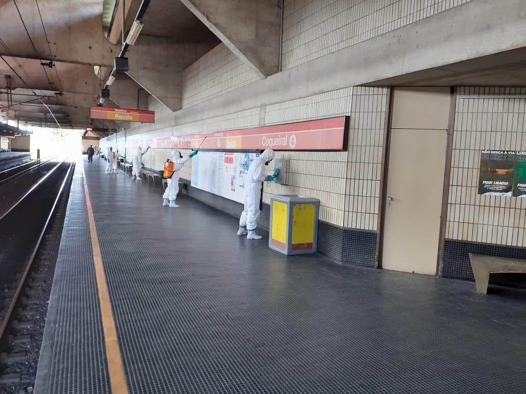 Desinfecção das Estações do Metrô