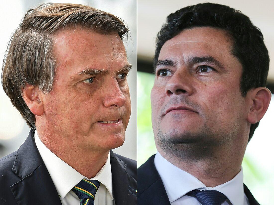Ex-ministro da Justiça, Sérgio Moro e Presidente Jair Bolsonaro