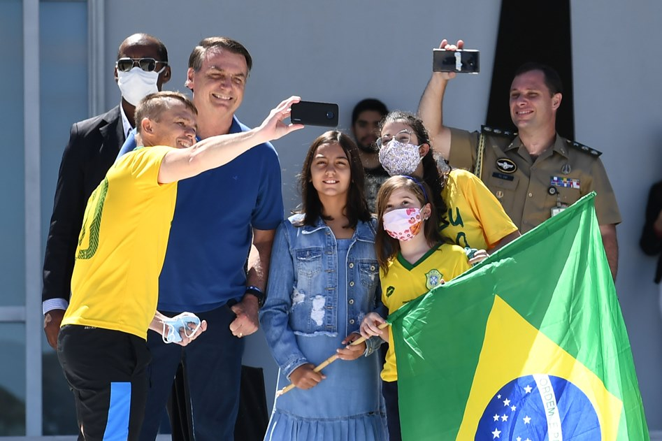 Bolsonaro em protesto contra STF