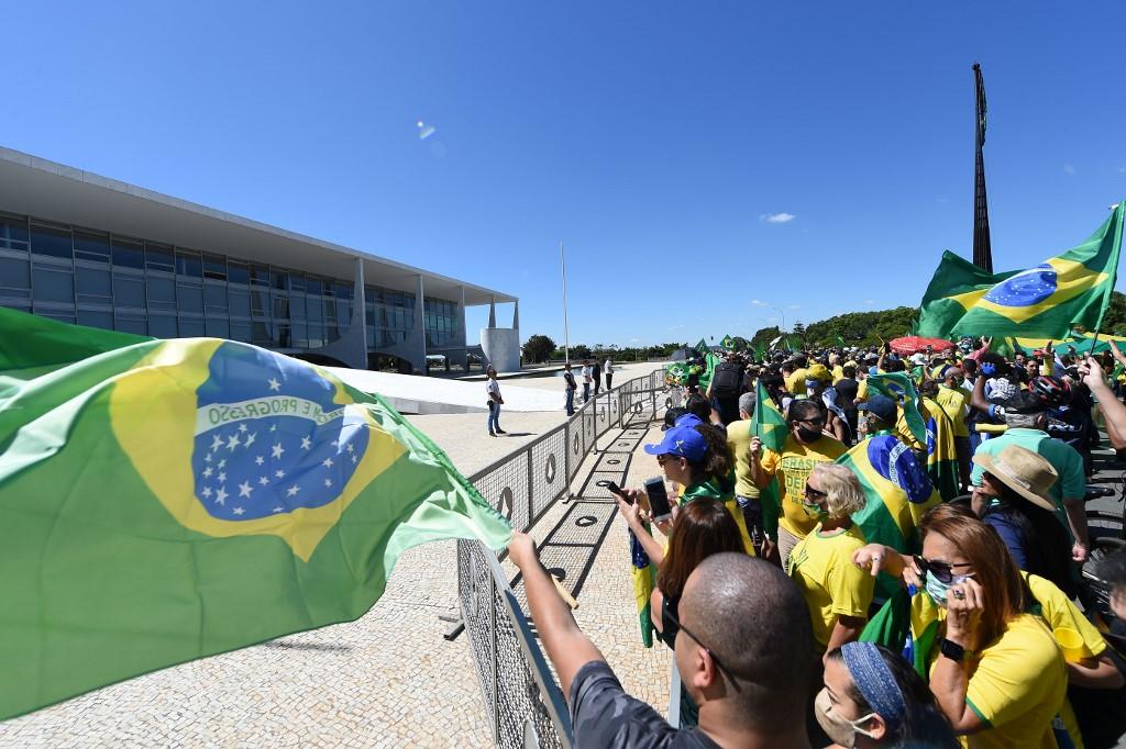 Agressão aconteceu em meio a ato realizado em Brasília no último domingo (3)