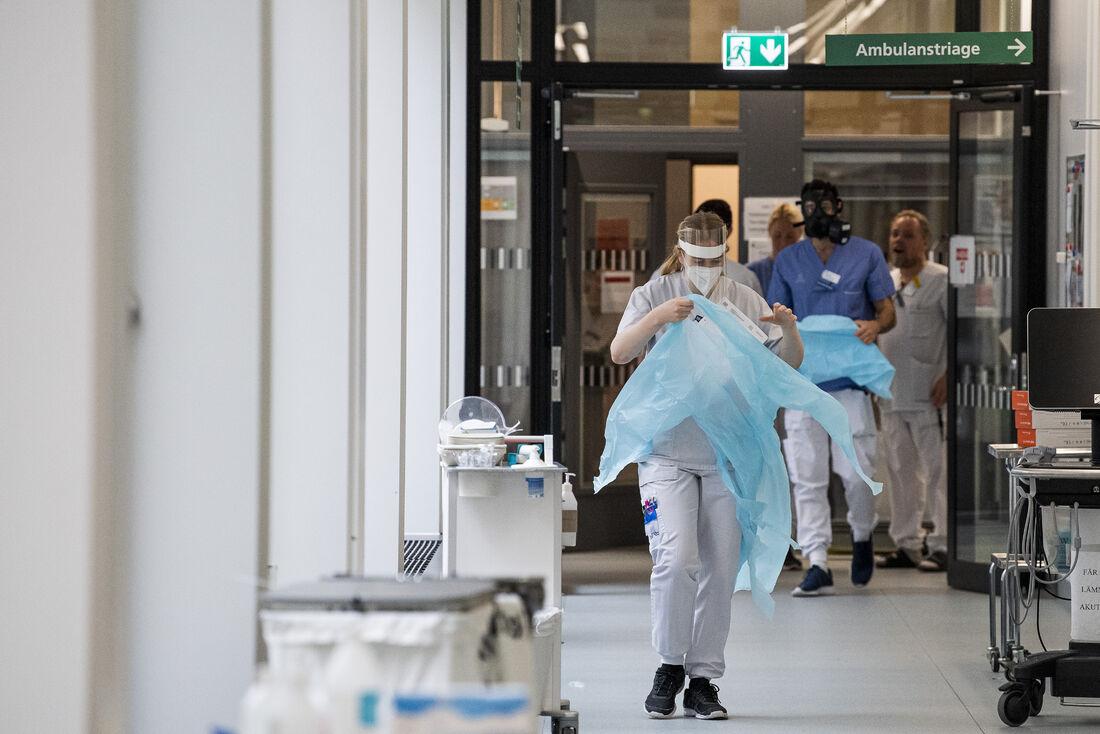 Hospital na Suécia em período de pandemia
