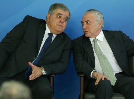 Aliado de Temer e Cunha, Carlos Marun (E) foi reconduzido ao conselho de Itaipu