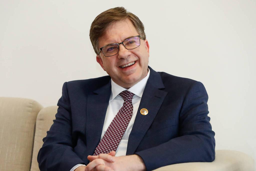 Todd Chapman, embaixador dos Estados Unidos no Brasil, durante reunião em Brasília