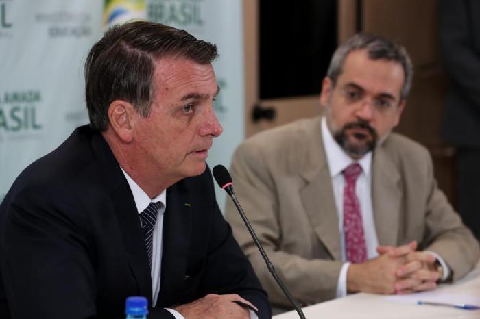 Presidente Jair Bolsonaro e Ministro da Educação, Abraham Weintraub