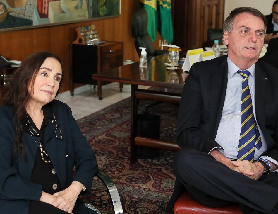 Secretária Regina Duarte e Presidente Jair Bolsonaro