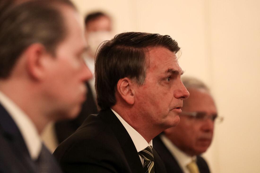 Presidente Jair Bolsonaro em reunião