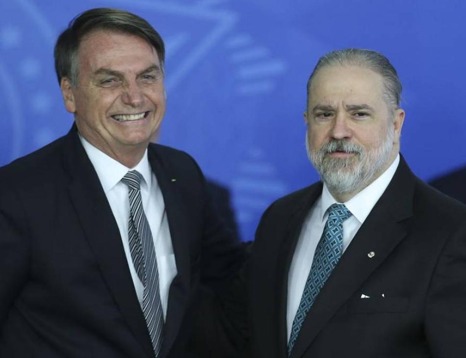 Presidente Jair Bolsonaro e PGR Augusto Aras