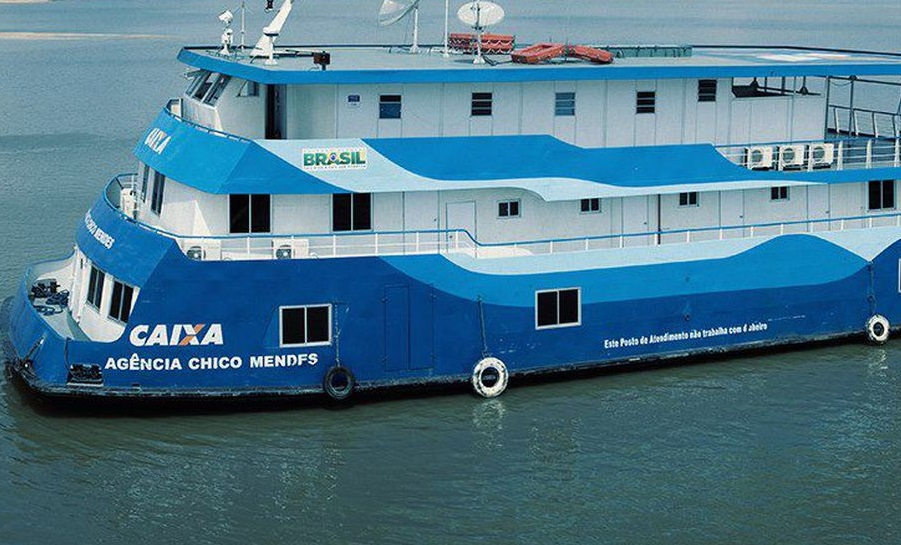 Agência-barco da Caixa Econômica