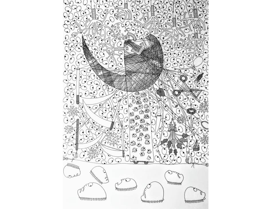 Desenho de Cyane Pacheco sem título