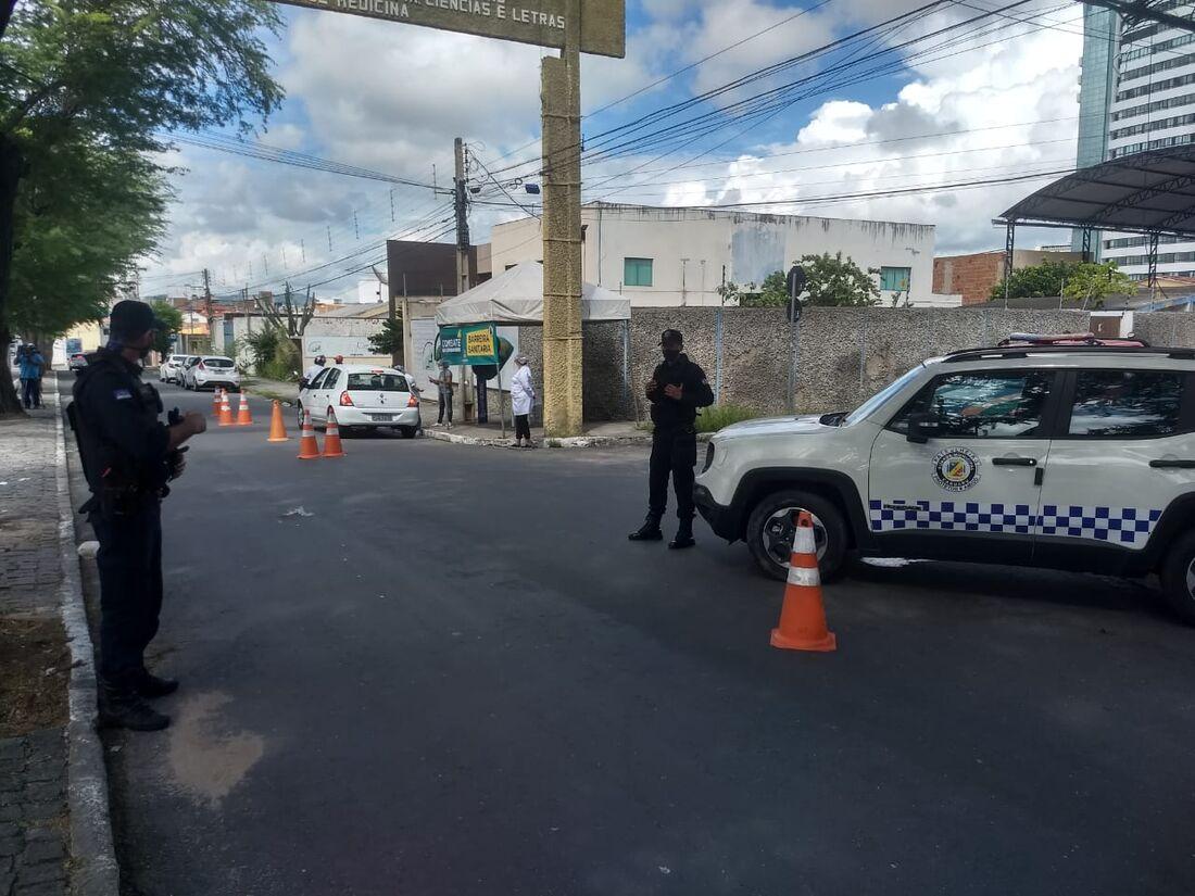 Cidade intensificou a ação de barreiras sanitárias