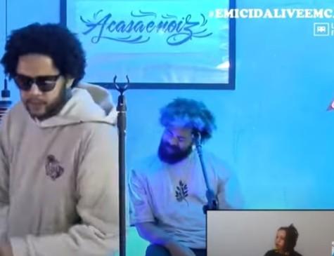 Emicida fez live no último domingo