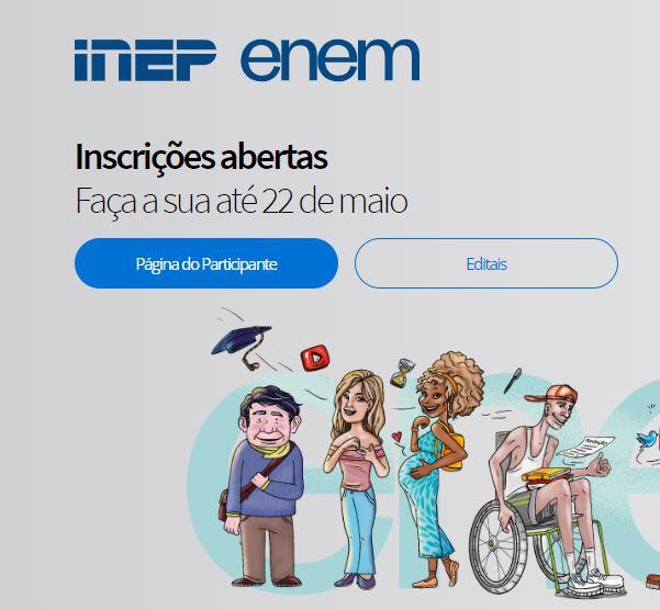 Inscrições do ENEM 2020