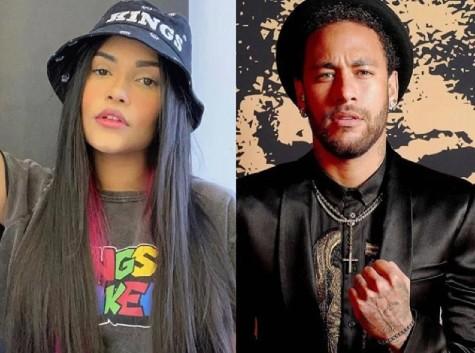 Ex-BBB Flayslane e o jogador Neymar