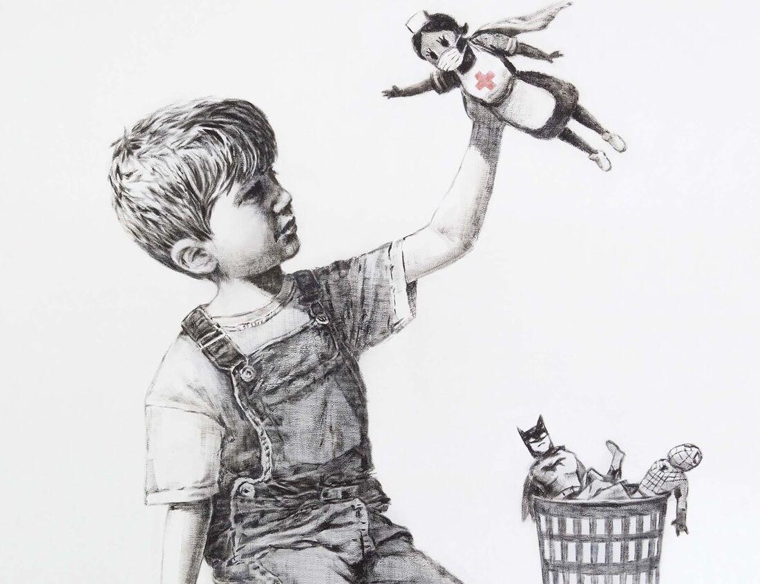 Banksy homenageia profissionais da saúde