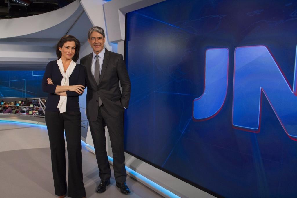 William Bonner e Renata Vasconcellos, apresentadores do Jornal Nacional