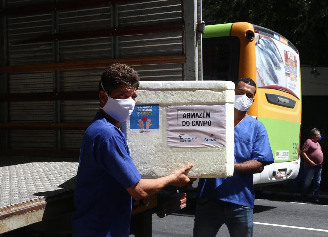 Parceria entre Governo de Pernambuco, Senac e entidade sociais já distribuiu 46 mil refeições à população de rua