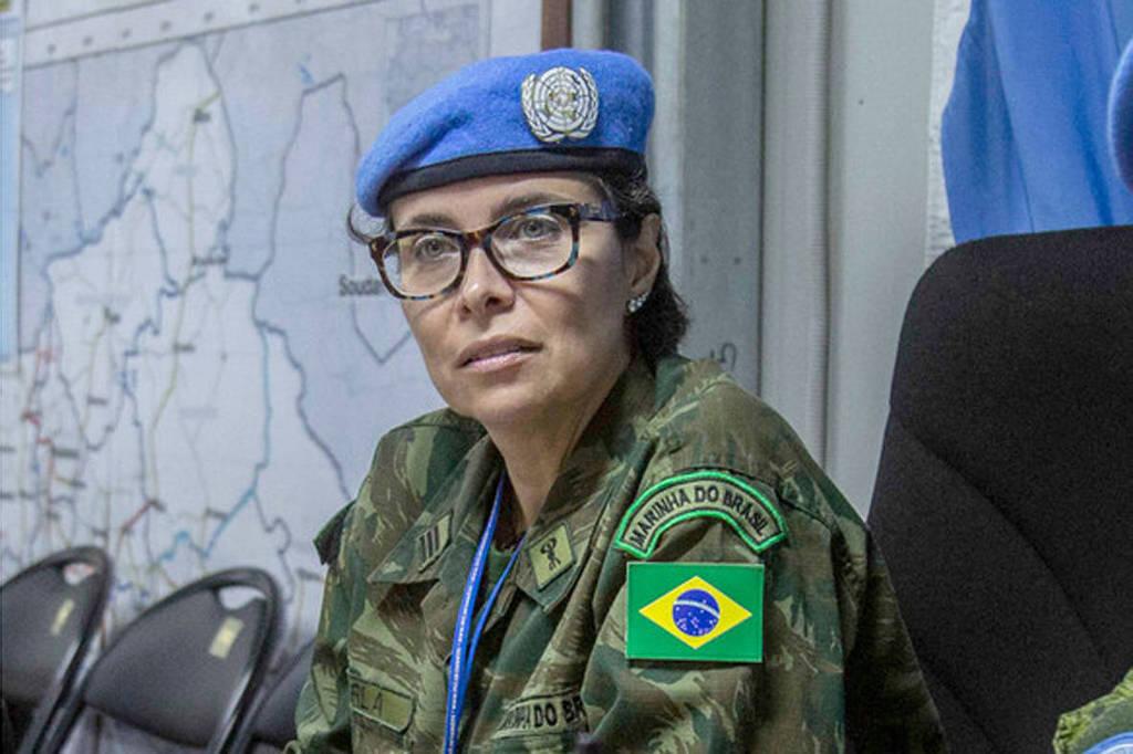 Militar brasileira Carla Monteiro de Castro Araújo, premiada na ONU
