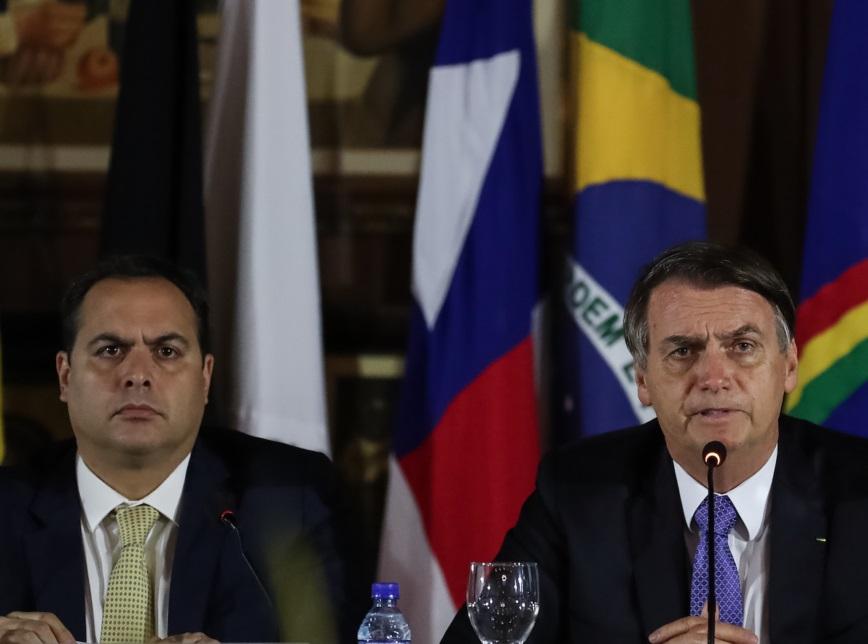 Governador de Pernambuco, Paulo Câmara e o Presidente da República, Jair Bolsonaro