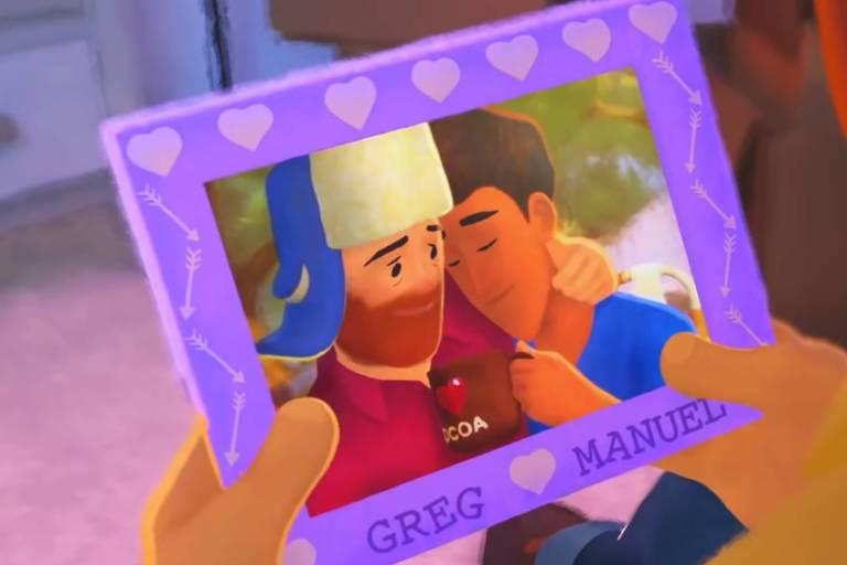 Cena do curta-metragem 'Out', da Pixar