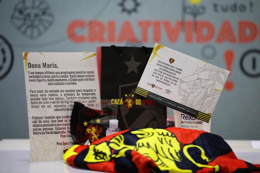 Kit que Sport entregará aos torcedores