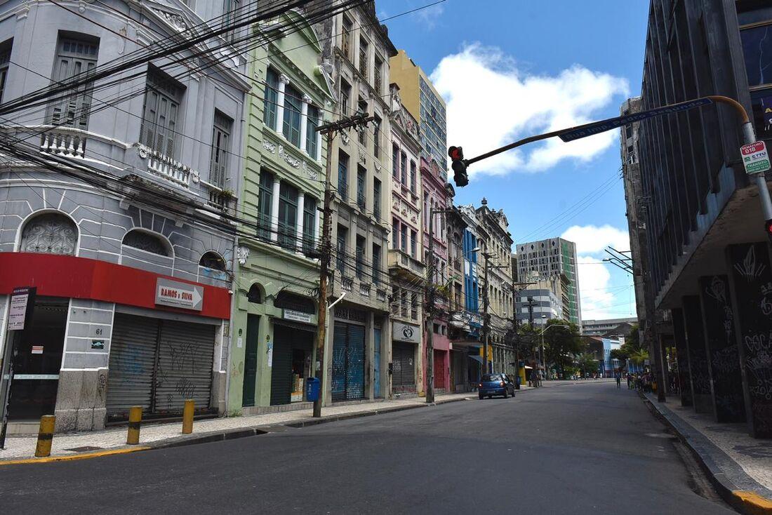 Movimentação no Recife durante isolamento social