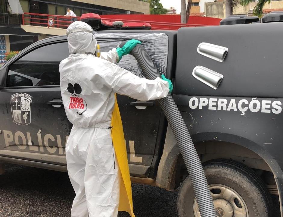 Cerca de 120 viaturas e ambulâncias serão desinfectadas