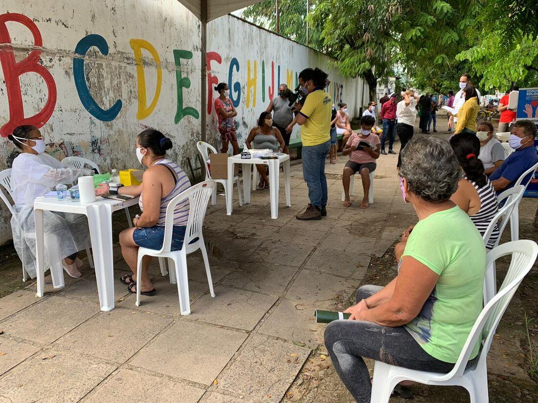 A ação acontece no bairro de Vera Cruz, na cidade de Camaragibe