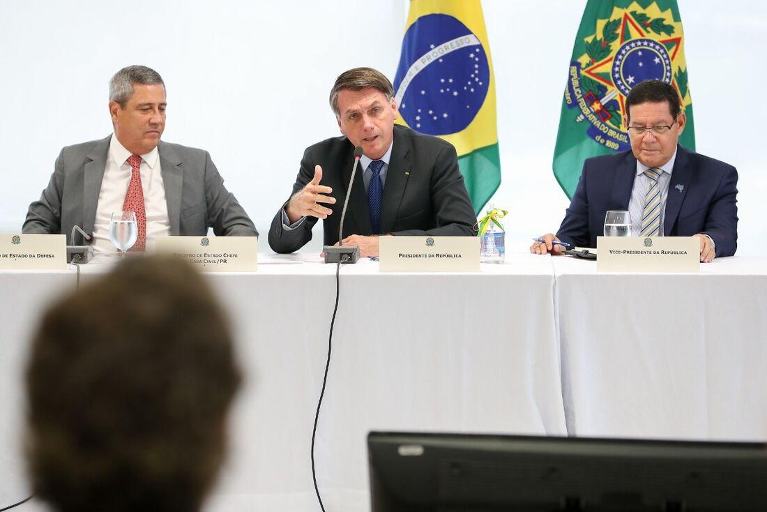 Reunião de Jair Bolsonaro com os ministros