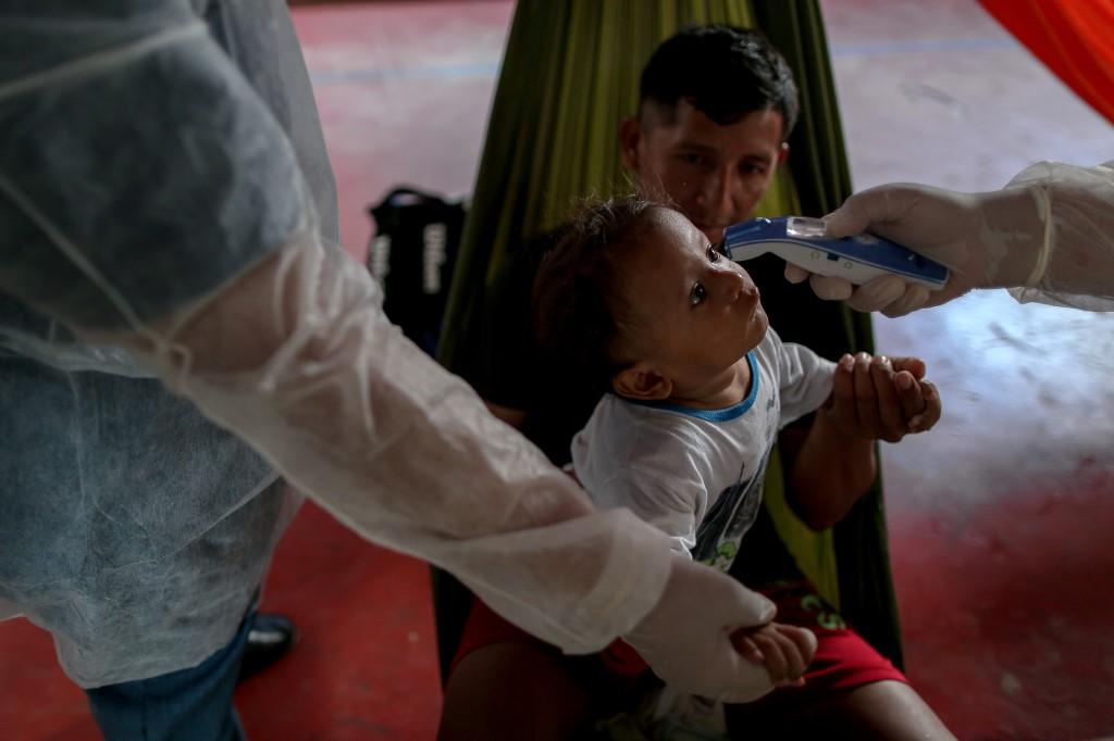 Ação de combate ao coronavírus na fronteira do Brasil com a Venezuela
