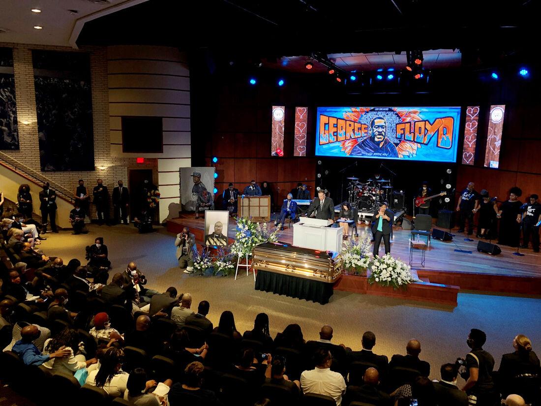 Funeral de George Floyd, nos EUA