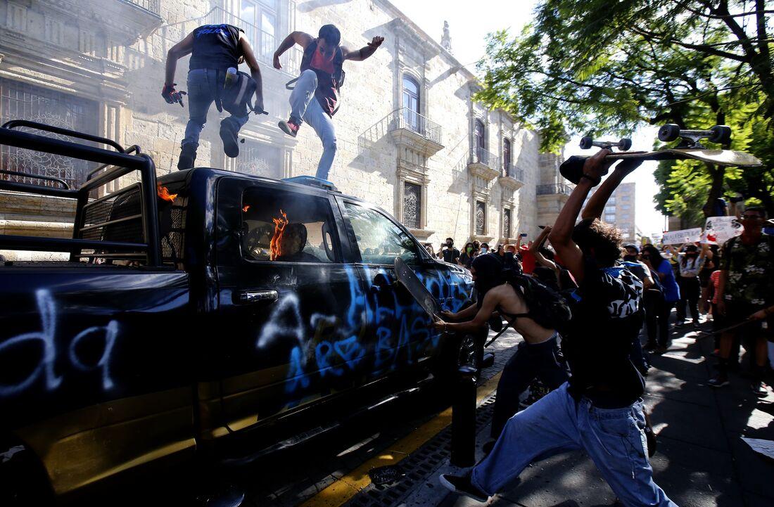 Protestos no México pela morte de um jovem
