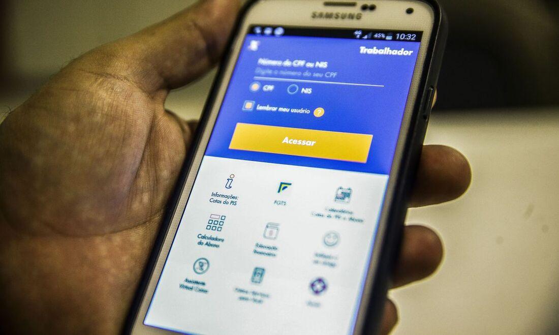 Nesta fase, o dinheiro poderá ser movimentado apenas por meio do aplicativo Caixa Tem