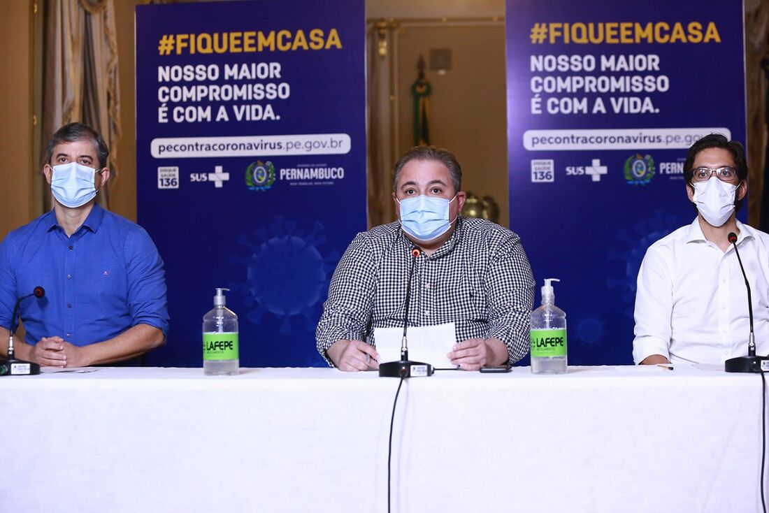 Alexandre Rêbelo, André Longo e Bruno Schwambach, em entrevista remota