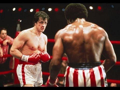 Cena com o personagem Rocky Balboa