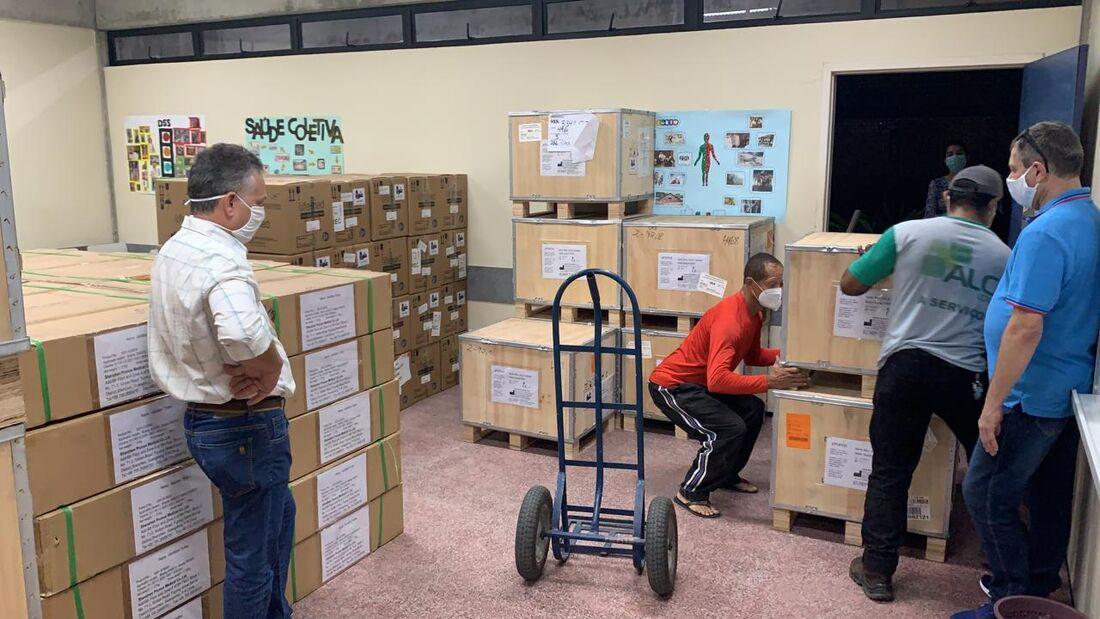 Equipamentos enviados pelo Governo do Estado para Petrolina