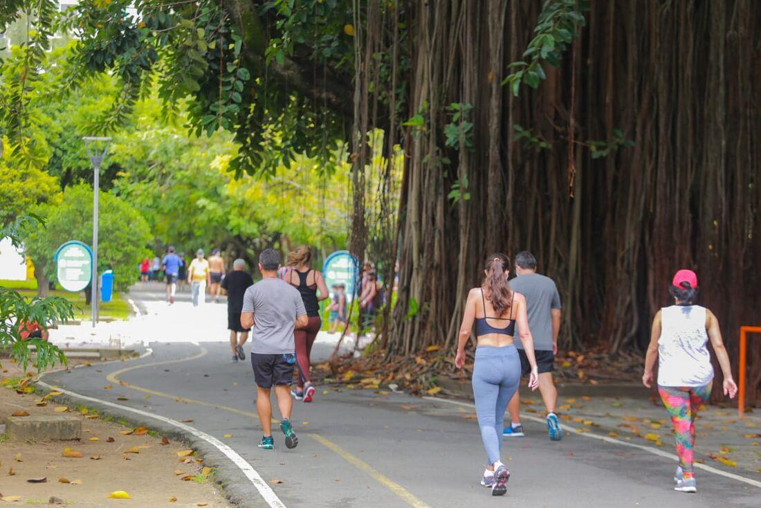 Movimentação no Parque da Jaqueira