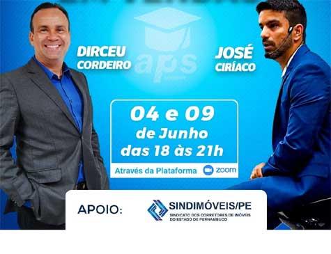 """o curso """"Imersão de inteligência comportamental em vendas"""" contará com a presença dos palestrantes Dirceu Cordeiro e José Ciríaco"""