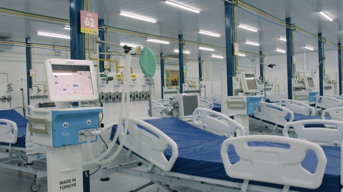Os novos leitos vão funcionar no hospital de campanha Recife III