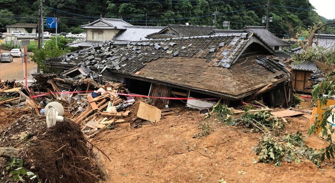 Chuvas provocaram deslizamentos de terra e inundações no Japão